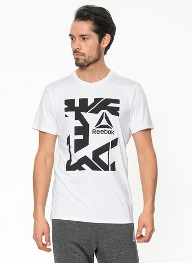Reebok Baskılı Tişört Beyaz